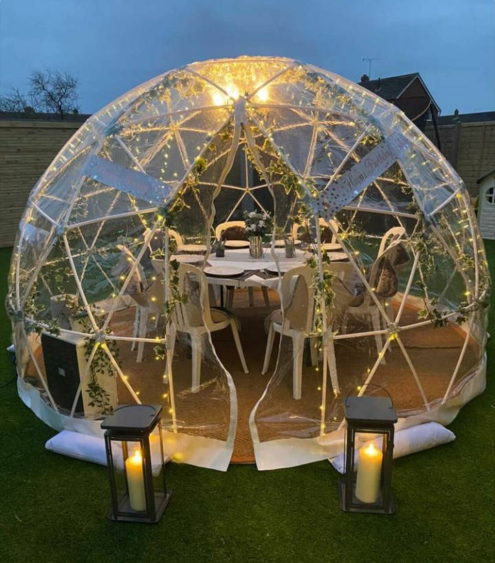 Garden Igloo for hire Hampshire